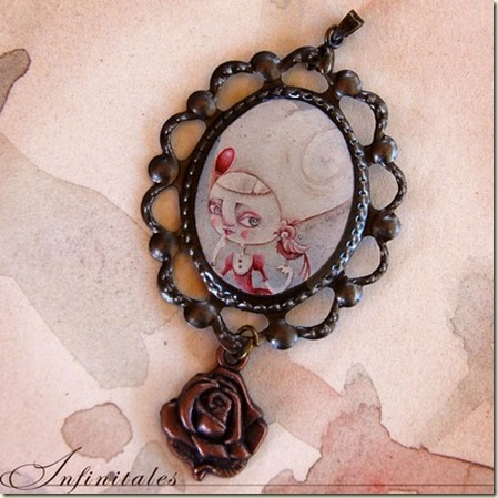 Cameo Pendant with Charm